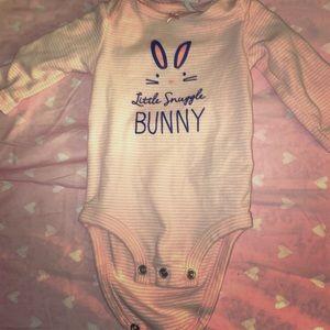 Snuggle bunny onsie